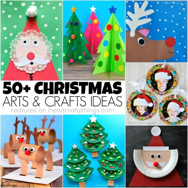 Christmas Art And Craft Ideas For Preschoolers  50 Christmas Arts and Crafts Ideas