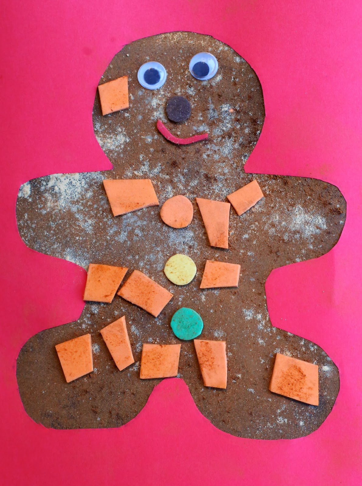 Christmas Art And Craft Ideas For Preschoolers  Christmas Craft for Kids Scented Gingerbread Man Art