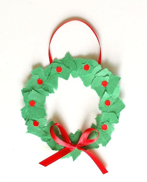 Christmas Art And Craft Ideas For Preschoolers  Homemade Christmas Ornaments Tear Art Christmas Wreaths