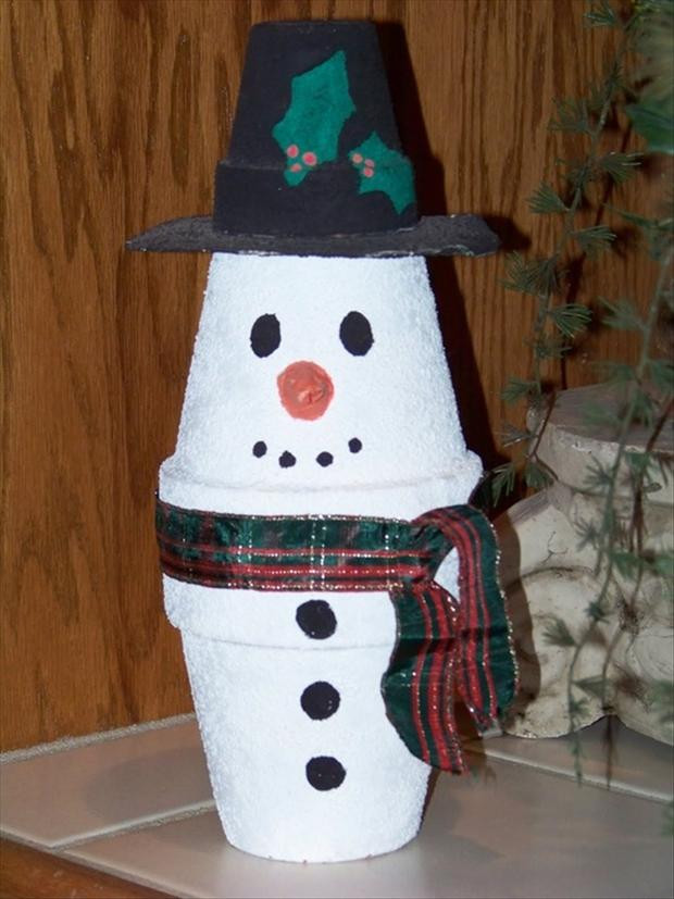 Best ideas about Christmas Arts And Crafts For Preschoolers . Save or Pin christmas crafts make a snowman out of a cup Dump A Day Now.