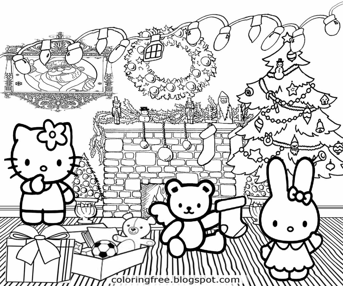 Christmas Coloring Pages For Girls  Free Coloring Pages Printable To Color Kids