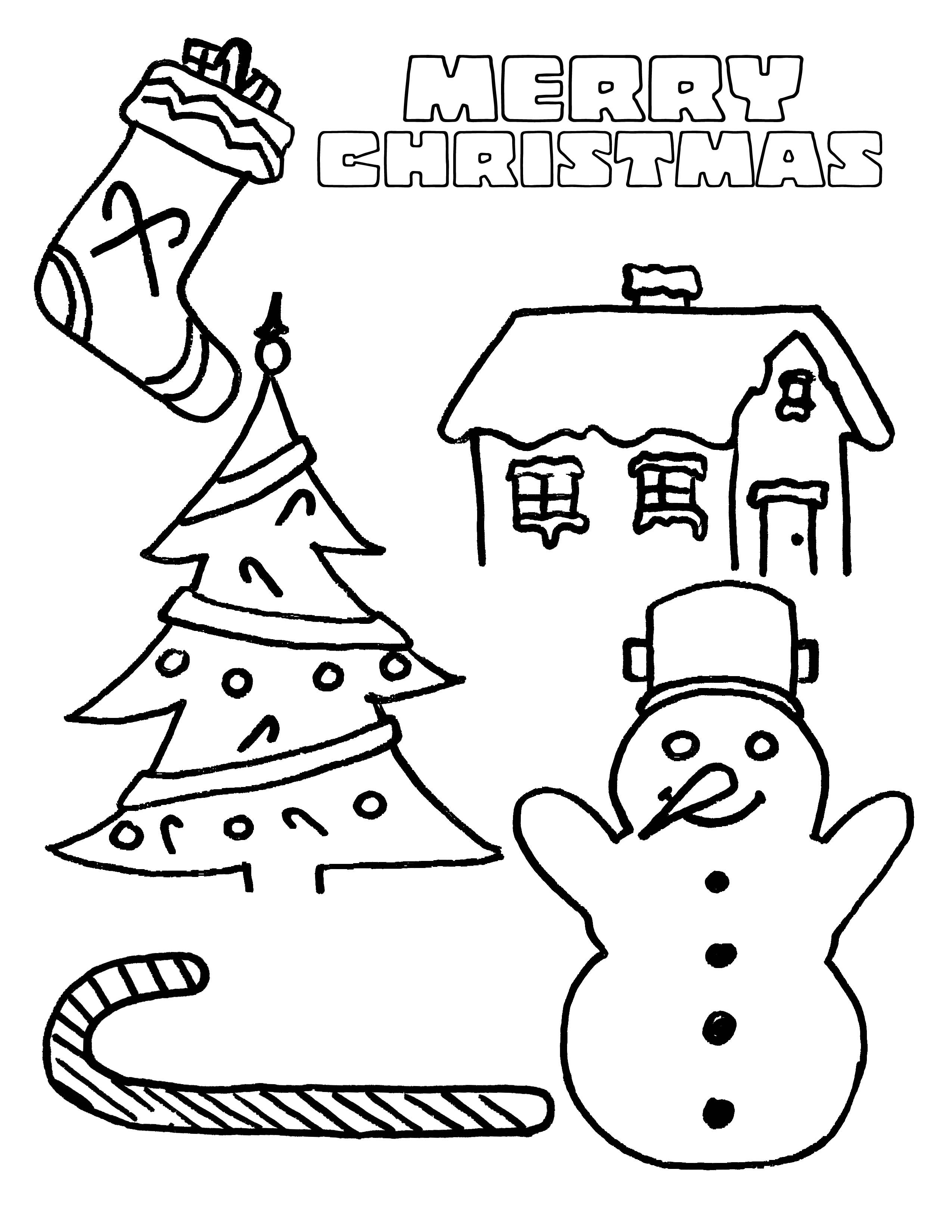 Christmas Coloring Pages For Kids Printable  Party Simplicity free Christmas coloring page for kids