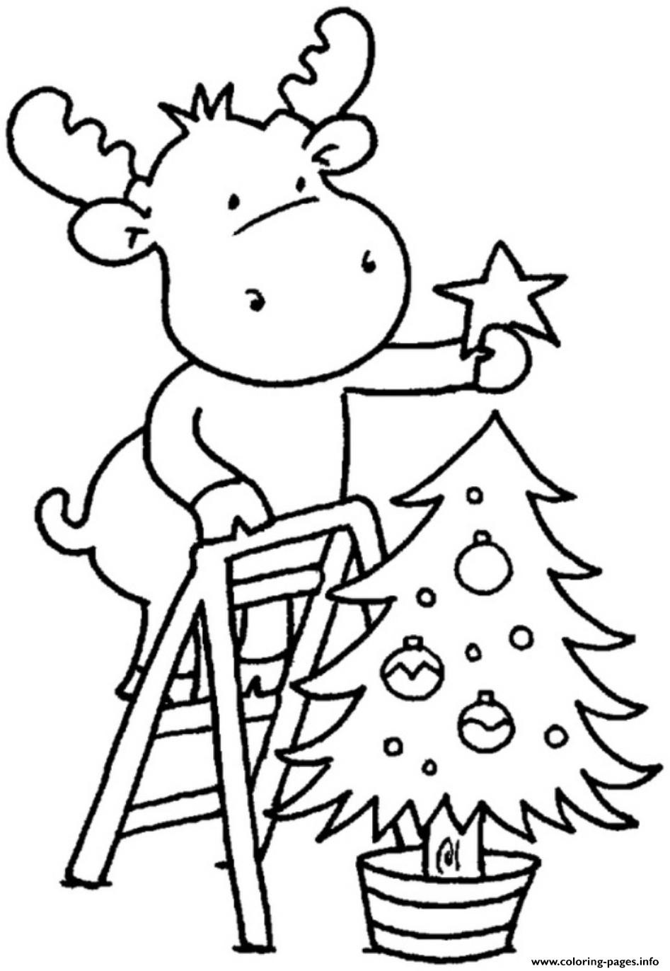 Christmas Coloring Pages For Kids Printable  Christmas Tree For Children Coloring Pages Printable