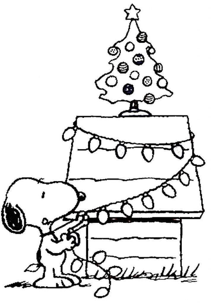 Christmas Coloring Pages For Kids Printable  Free Printable Charlie Brown Christmas Coloring Pages For