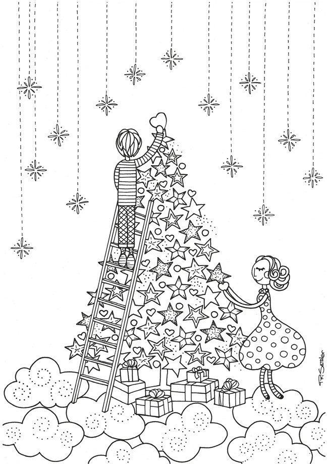 Christmas Coloring Pages For Kids Printable  21 Christmas Printable Coloring Pages EverythingEtsy