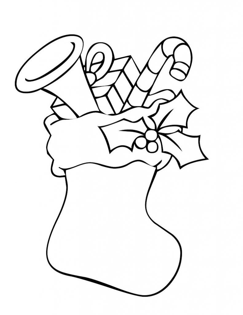 Christmas Coloring Pages For Kids Printable  Christmas Stocking Coloring Pages Best Coloring Pages