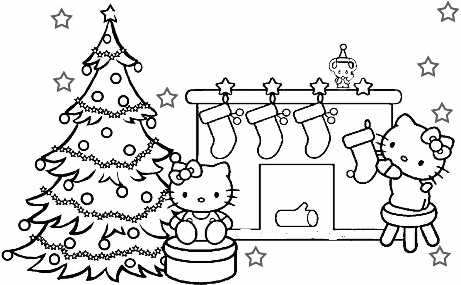 Christmas Coloring Pages For Kids Printable  Christmas Coloring Pages For Kids Printable Coloring Home