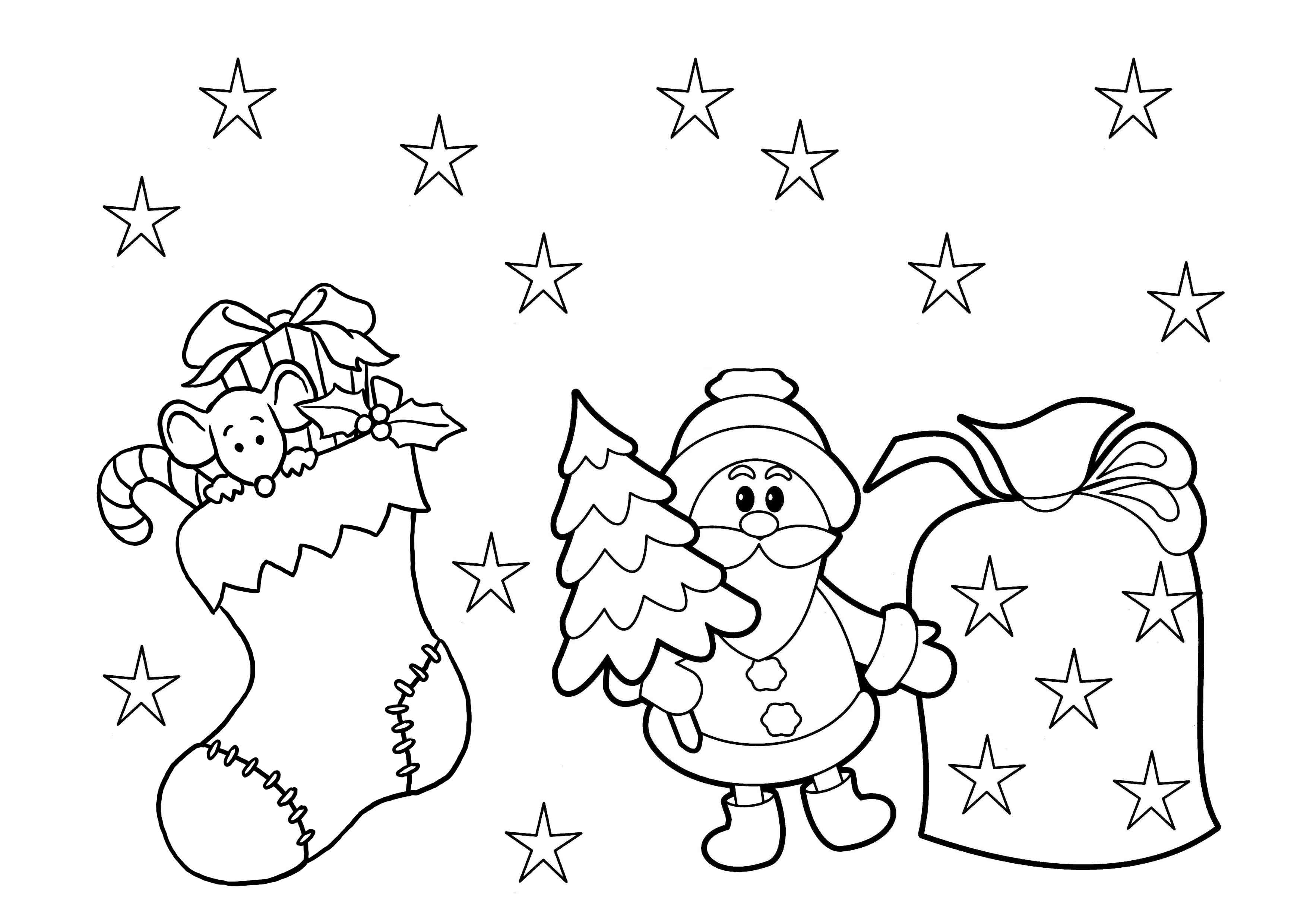 Christmas Coloring Pages For Kids Printable  Print & Download Printable Christmas Coloring Pages for Kids