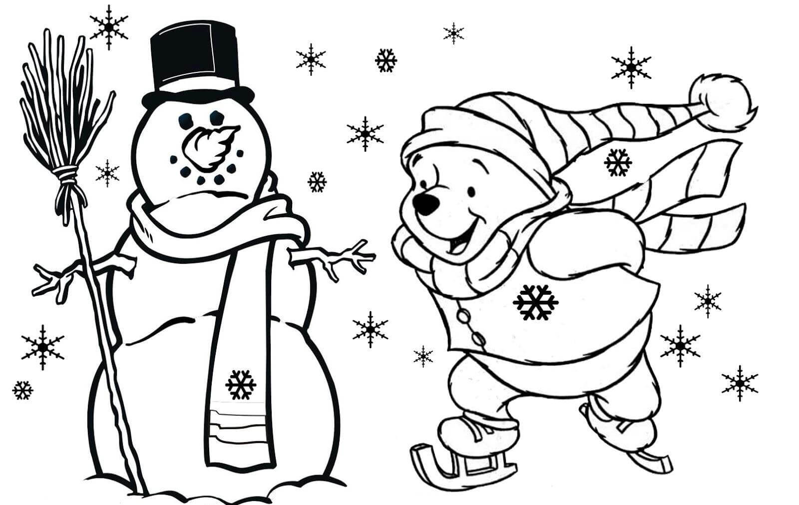Christmas Coloring Sheets For Kids Free  Christmas Coloring Pages To Print Free