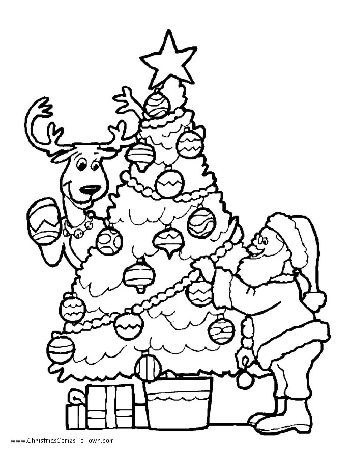 Christmas Coloring Sheets For Kids Free  Free Coloring Pages Christmas