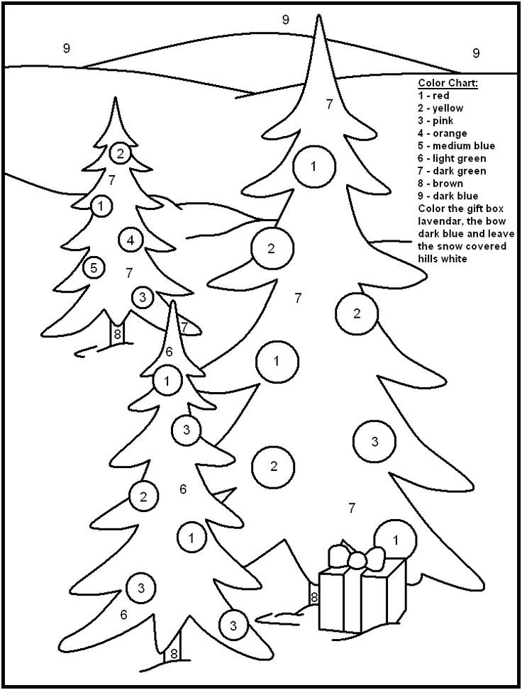 Christmas Coloring Sheets For Kids Free  Christmas Color By Numbers Best Coloring Pages For Kids