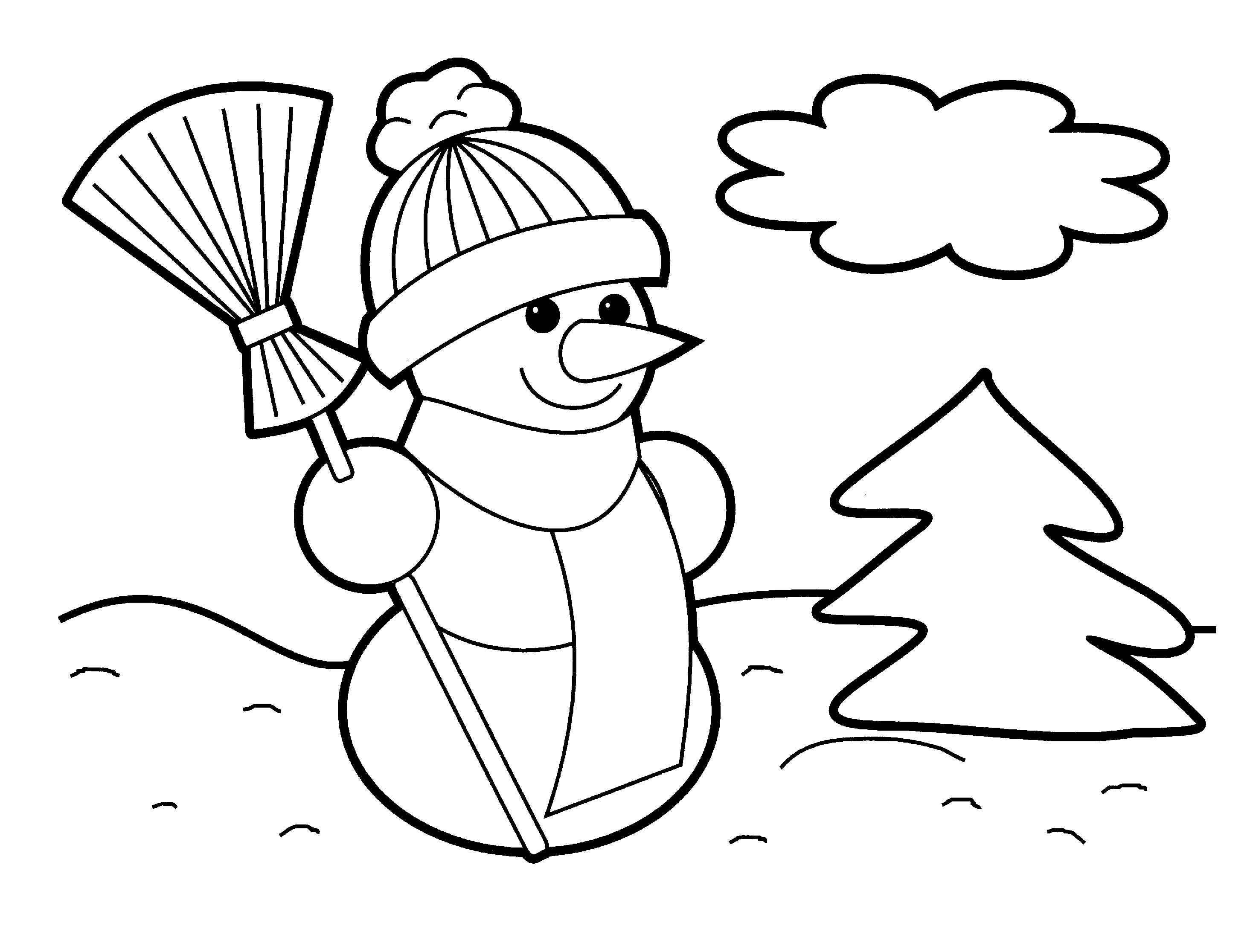 Christmas Coloring Sheets For Kids Free  Christmas Coloring Pages for Kids
