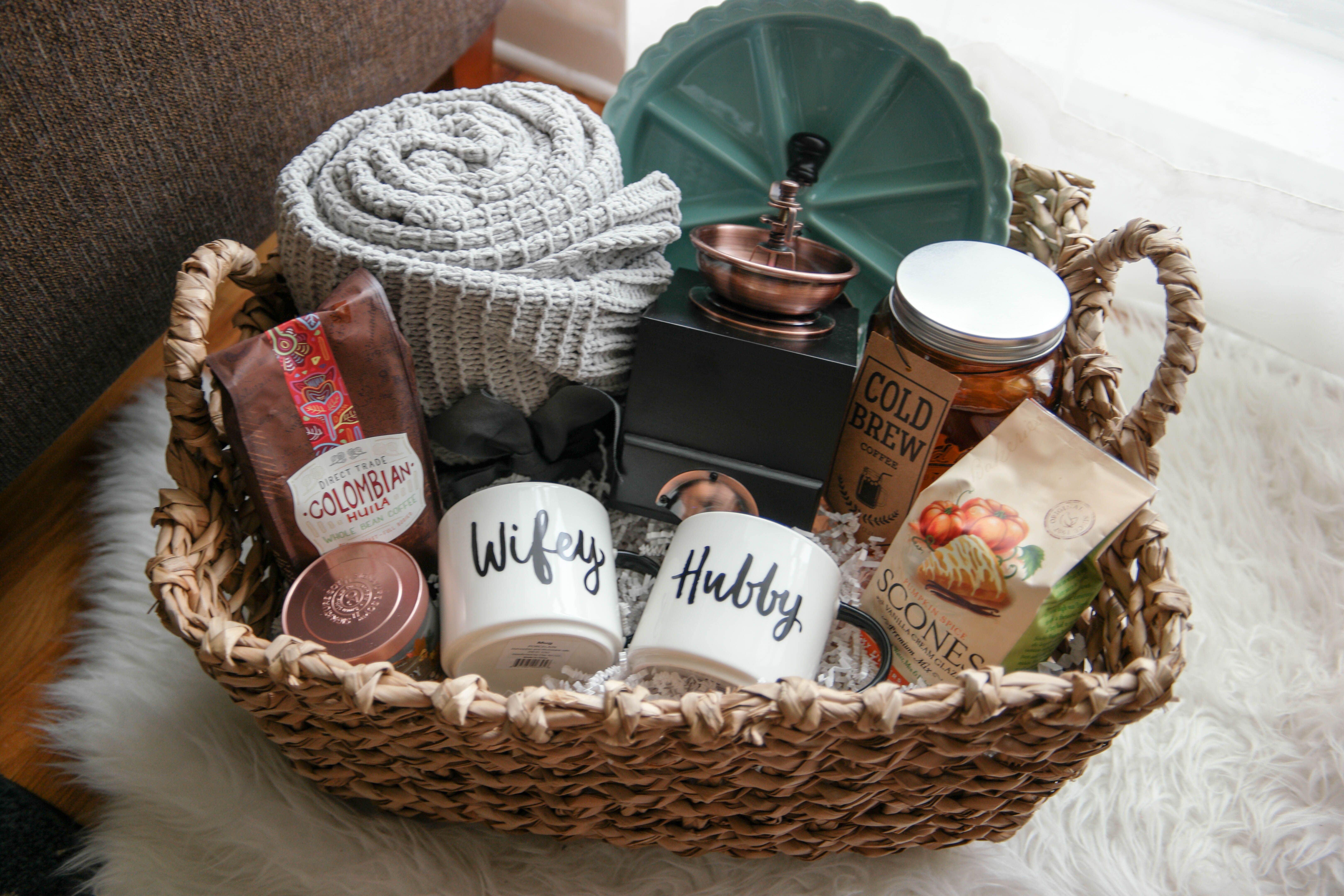 Best ideas about Christmas Gift Basket Ideas For Couples . Save or Pin A Cozy Morning Gift Basket A Perfect Gift For Newlyweds Now.