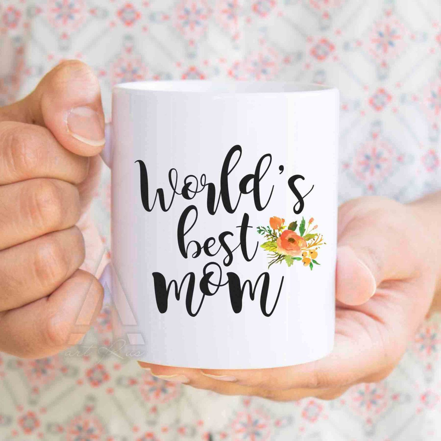 "Christmas Gift Ideas For Moms From Daughters  Christmas ts for mom ""World s best mom"" coffee mug mom"