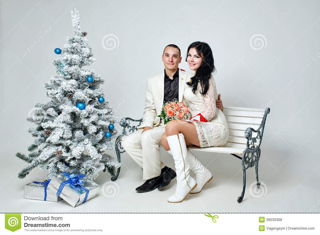 Best ideas about Christmas Gift Ideas For Young Couples . Save or Pin Couple And Christmas Royalty Free Stock s Image Now.
