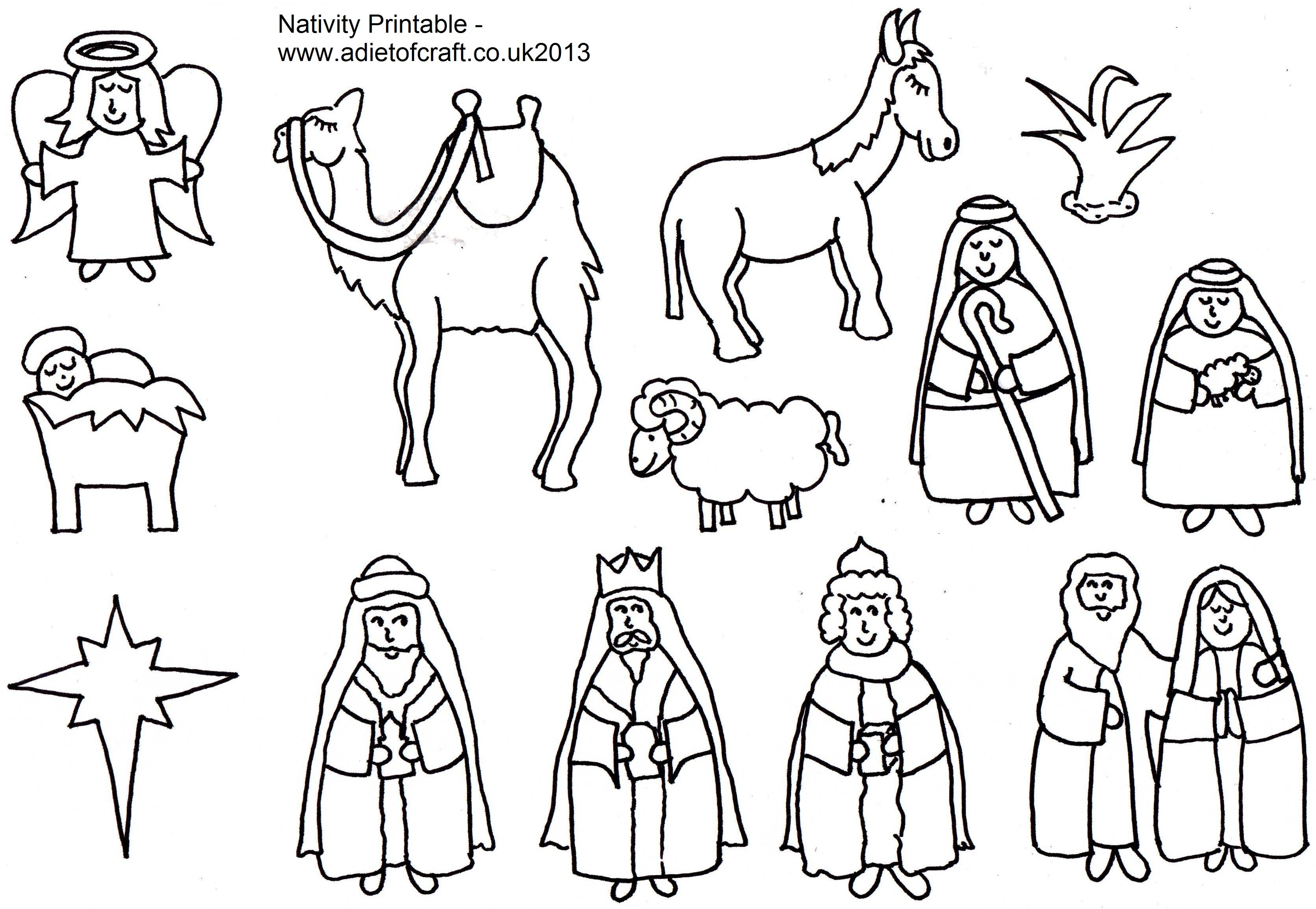 Christmas Nativity Coloring Sheets For Kids  7 Best of Nativity Story Printable Book Printable