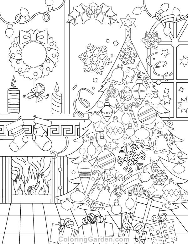 Christmas Printable Coloring Sheets For Older Kids  Christmas Adult Coloring Page