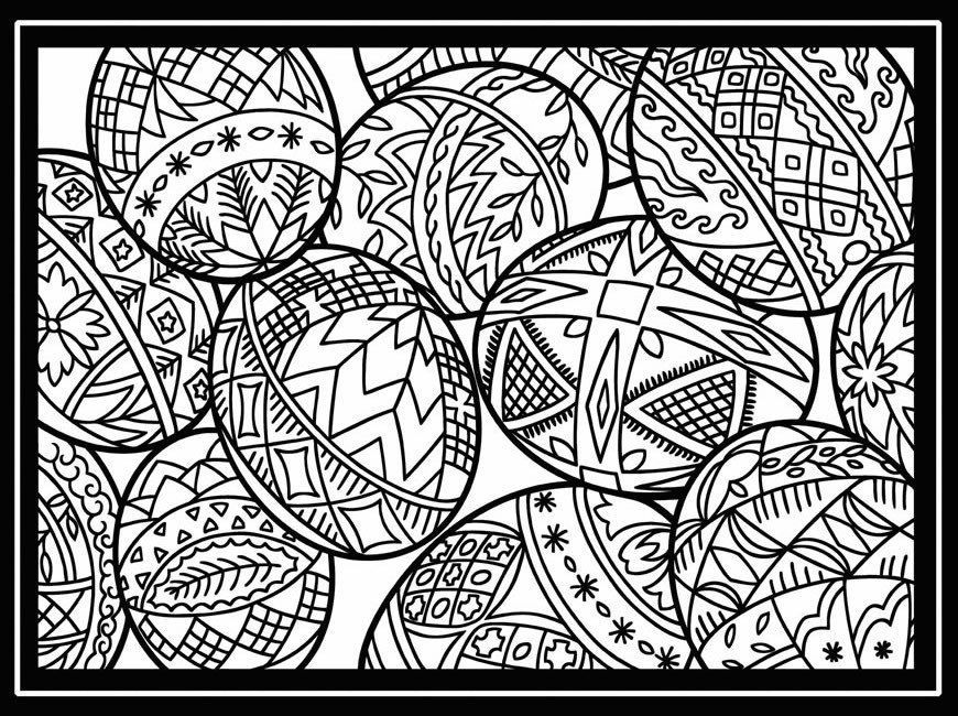 Christmas Printable Coloring Sheets For Older Kids  10 cool free printable Easter coloring pages for kids who