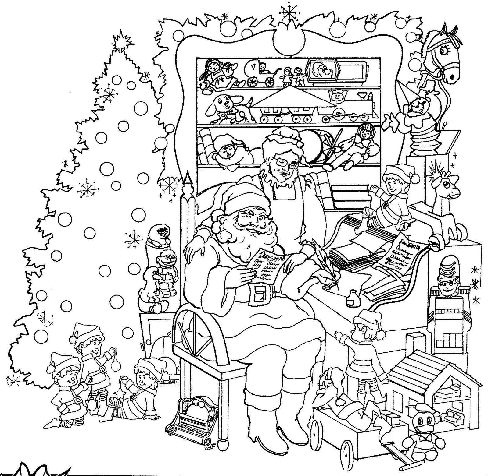 Christmas Printable Coloring Sheets For Older Kids  Christmas Coloring Pages for Adults 2019 Dr Odd