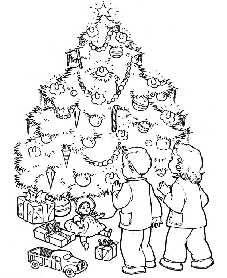 Christmas Printable Coloring Sheets For Older Kids  Christmas Tree Coloring Pages for Adults 2018 Dr Odd