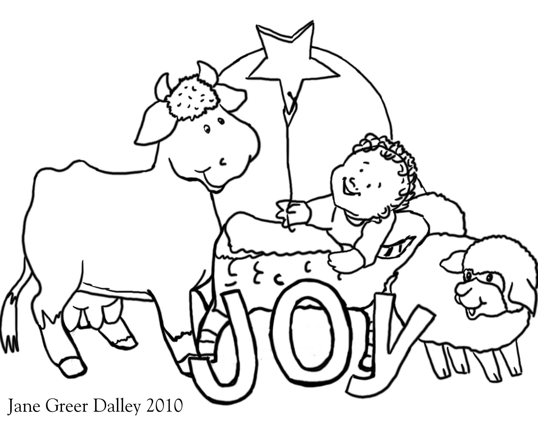 Christmas Religious Coloring Pages For Kids  Christian Christmas Coloring Pages Printable
