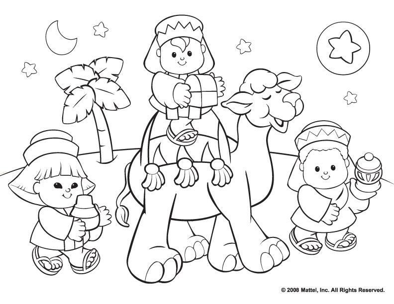 Christmas Religious Coloring Pages For Kids  Religious Christmas Coloring Pages Coloring Home