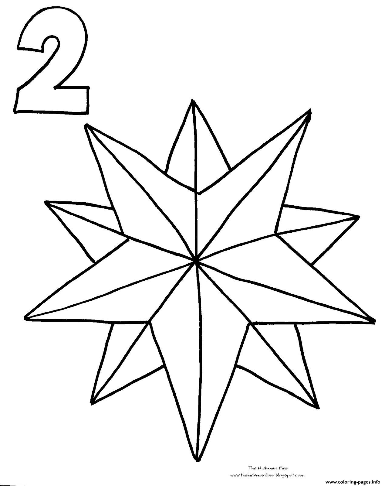 Christmas Star Printable Coloring Pages  Christmas Star Countdown Coloring Pages Printable
