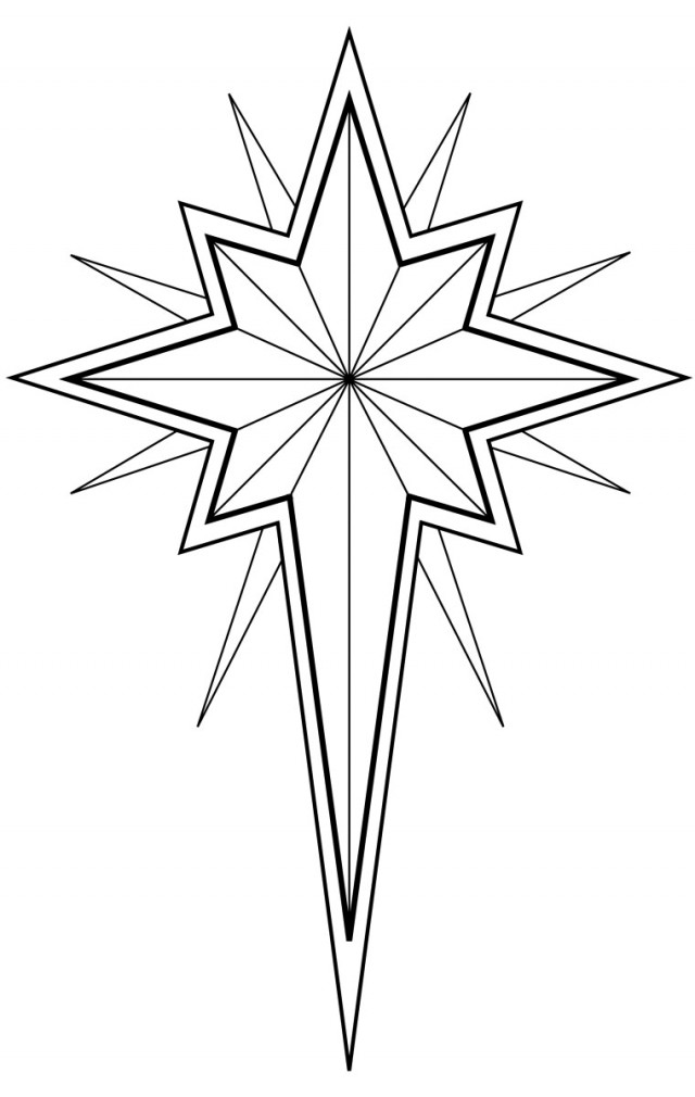 Christmas Star Printable Coloring Pages  Christmas Star Coloring Pages Coloring Book Area Best