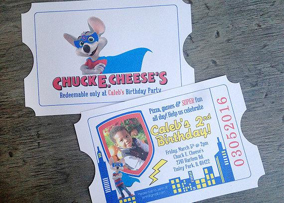 Chuck E Cheese Birthday Party Prices  Chuck E Cheese Birthday Invite