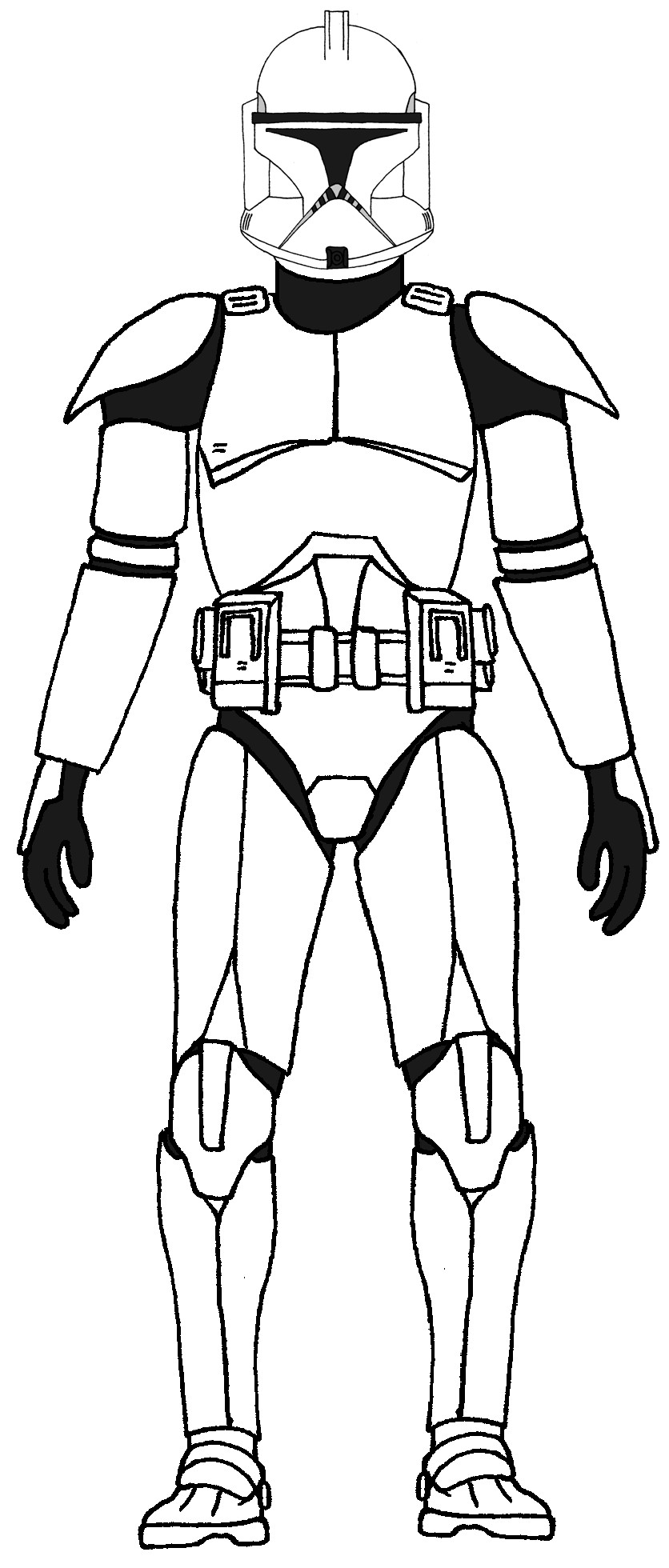 Clone Wars Coloring Pages  Star Wars Clone Coloring Pages