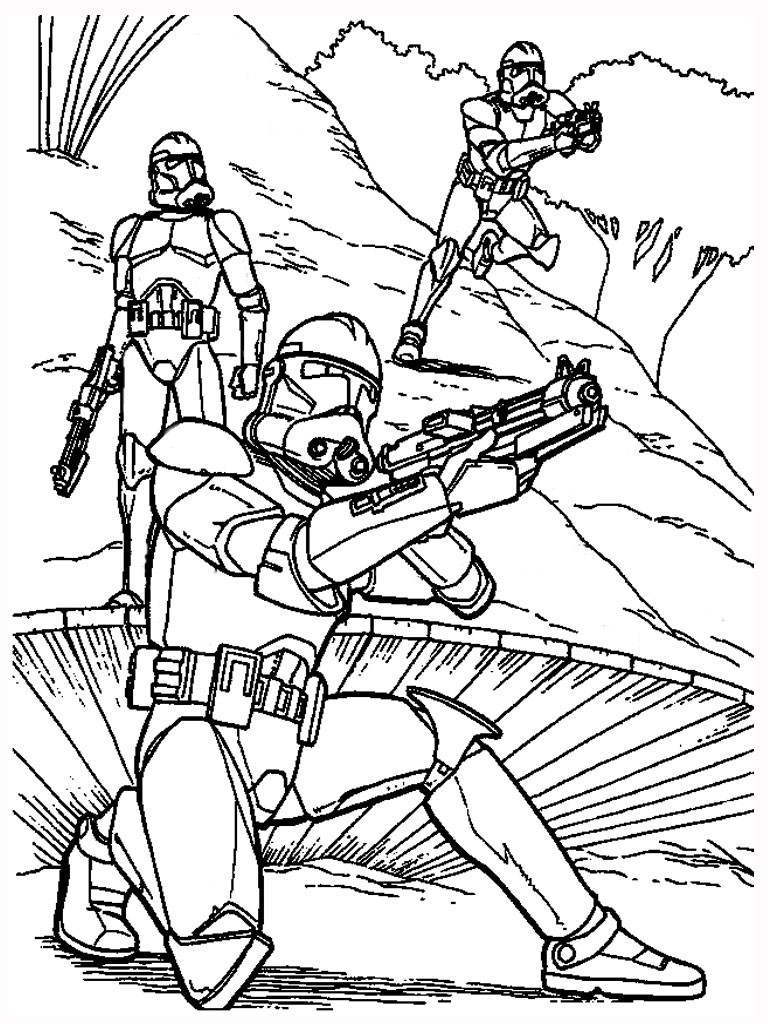 Clone Wars Coloring Pages  Free Printable Star Wars Coloring Pages Free Printable