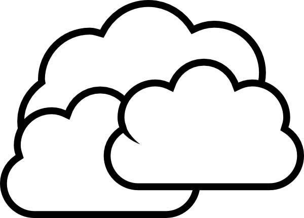 Cloud Coloring Pages  Coloring Pages Clouds AZ Coloring Pages