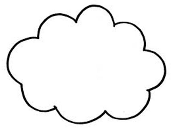 Cloud Coloring Pages  Coloring Pages Clouds Coloring Home
