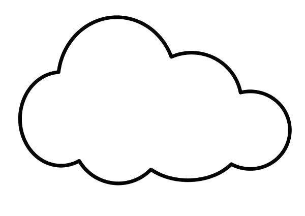 Cloud Coloring Pages  Clouds clipart coloring page Pencil and in color clouds