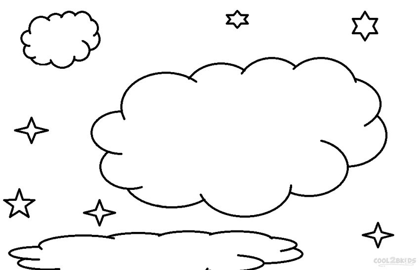 Cloud Coloring Pages  Printable Cloud Coloring Pages For Kids