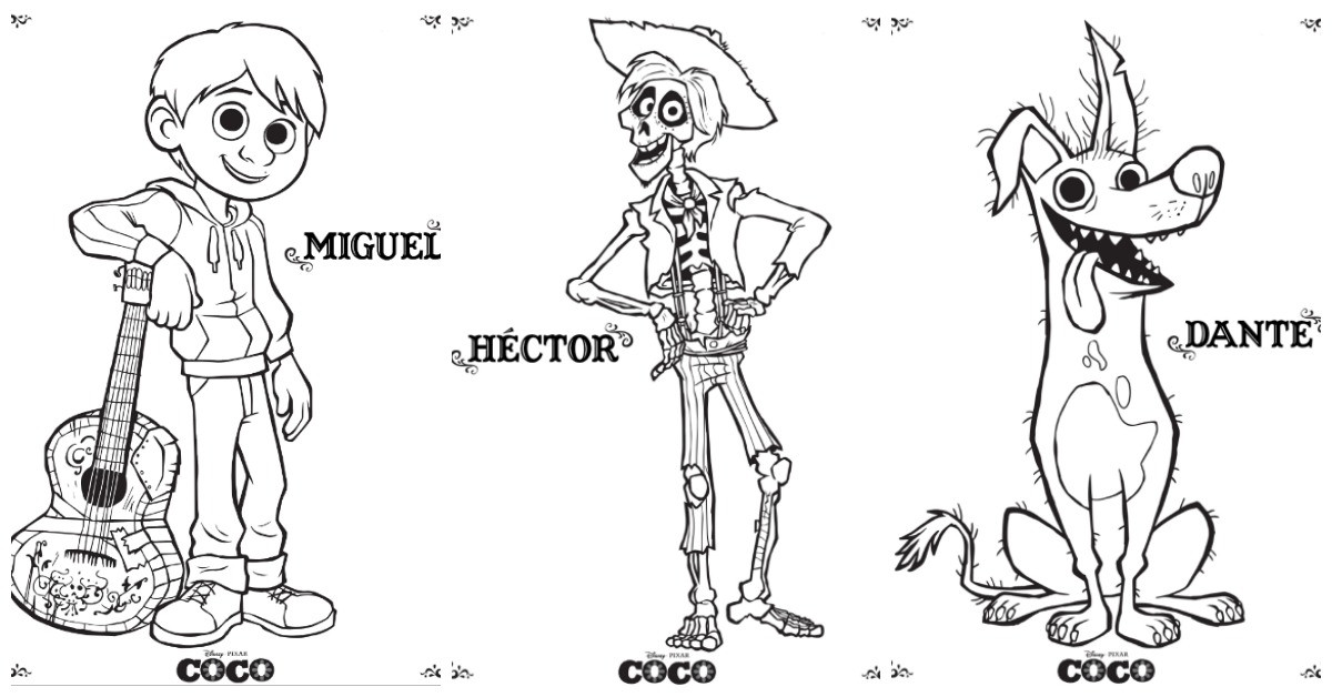 Coco Coloring Pages  Coco Coloring Pages