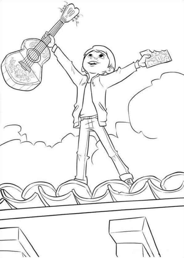 Coco Coloring Pages  Printable Disney Coco Coloring Pages