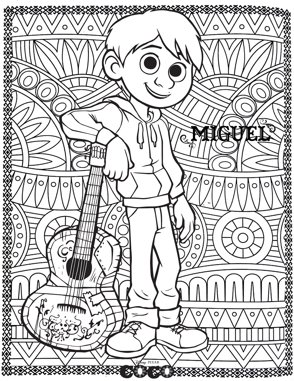 Coco Coloring Pages  Pinto Dibujos Coco para colorear