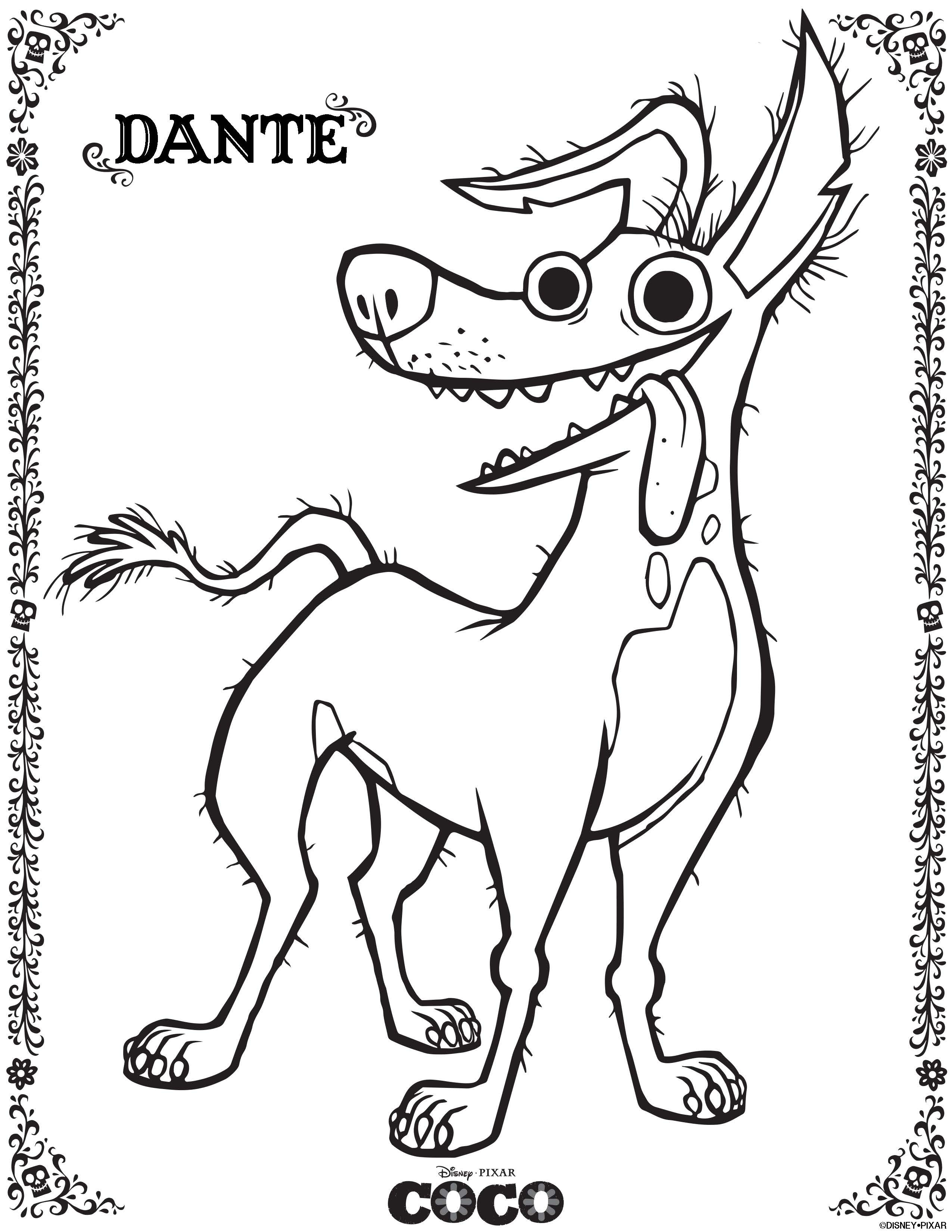 Coco Coloring Pages  COCO Coloring sheets and activity sheets from Disney Pixar