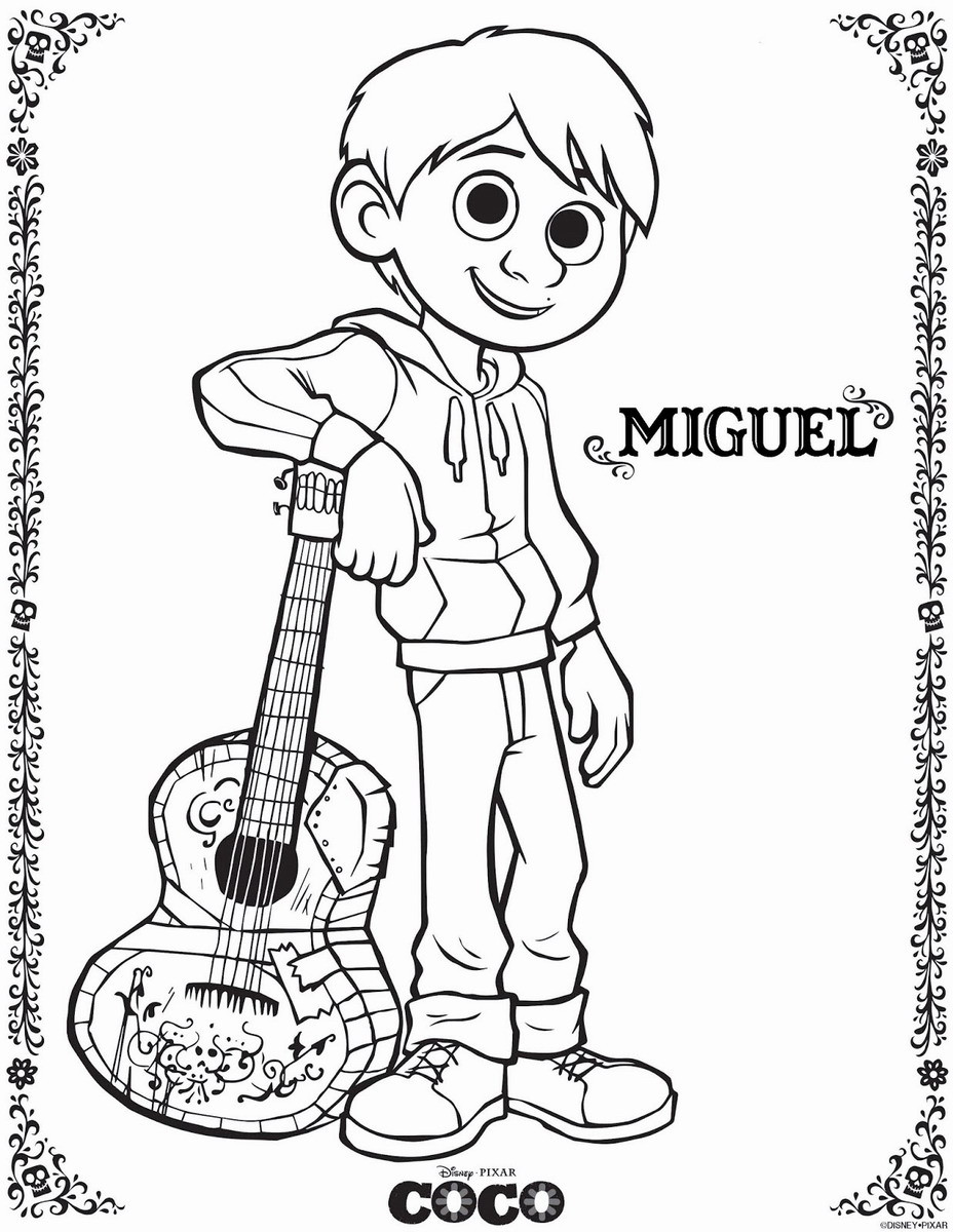 Coco Coloring Pages  Coco Movie Coloring Pages