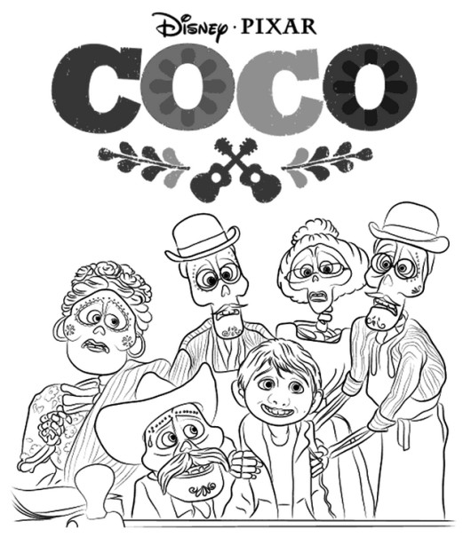 Coco Coloring Pages  Top 8 Coco Coloring Sheets awaiting You to Choose
