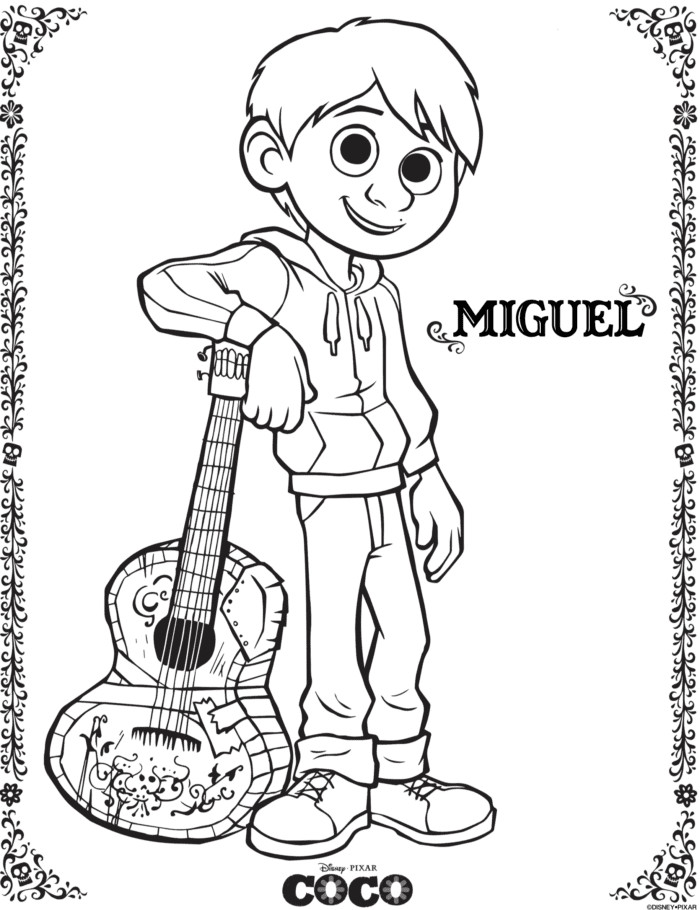 Coco Coloring Pages  Disney COCO Free Printables Coloring Pages · The Typical Mom