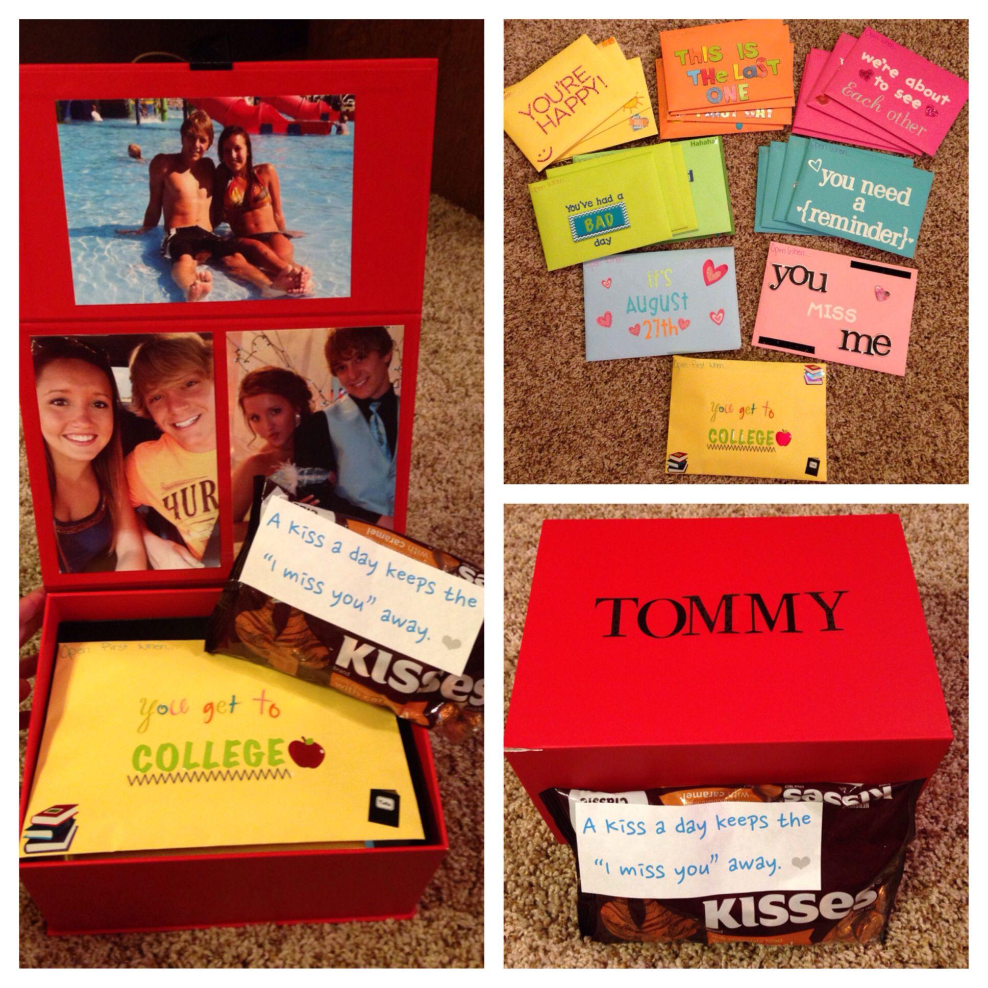 College Boyfriend Gift Ideas  College going away t for my boyfriend Open when