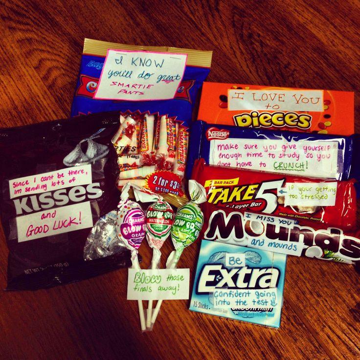 College Boyfriend Gift Ideas  Finals care package for the boyfriend