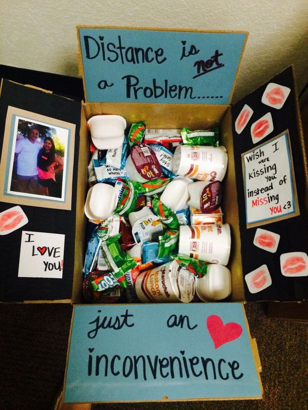 College Boyfriend Gift Ideas  20 Creative College Care Package Ideas Noted List