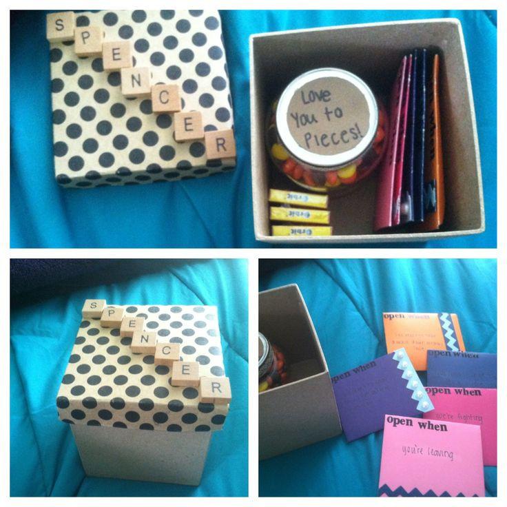 College Boyfriend Gift Ideas  Going away t my boyfriend when he leaves for college