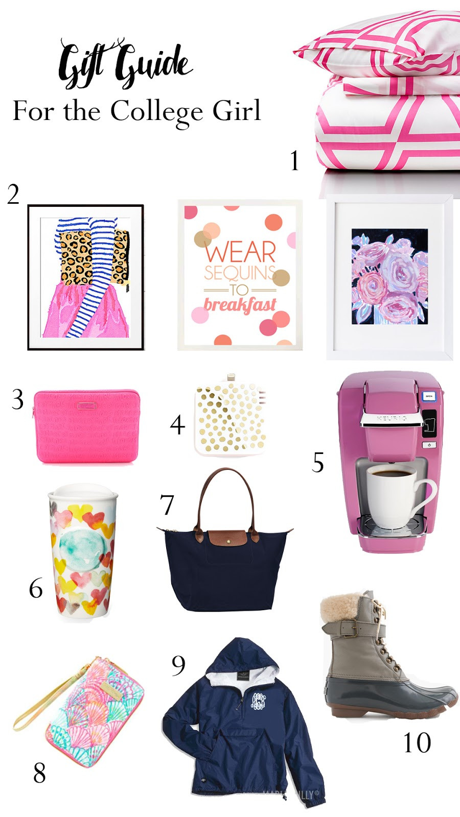 College Girlfriend Gift Ideas  Gift Guide For the College Girl