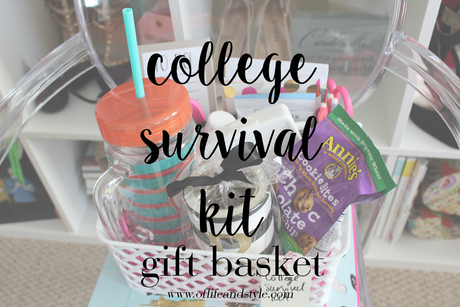 College Girlfriend Gift Ideas  of life and style College Survival Kit Gift Basket