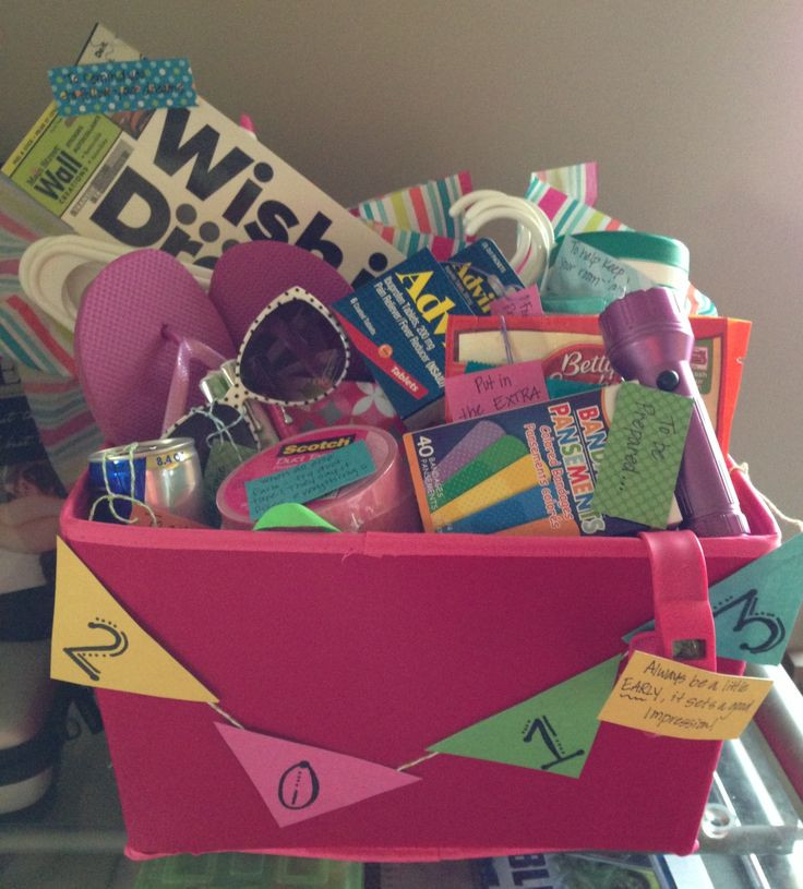 College Graduation Gift Ideas For Friends  Graduation t basket college survival and tips basket