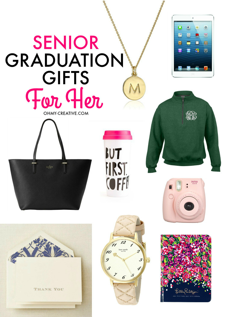 College Graduation Gift Ideas For Friends  Senior Graduation Gifts for Her Oh My Creative